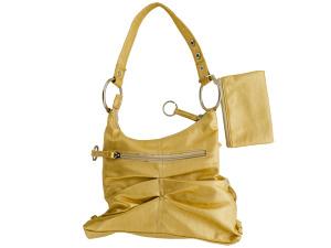 Gold Handbag with Zipper Case