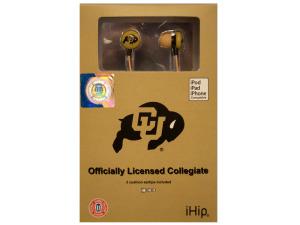 Collegiate Licensed Colorado Buffaloes Earphones