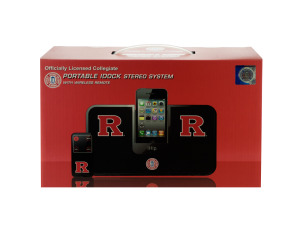 Collegiate Licensed Rutgers University Portable IDock Stereo Sys