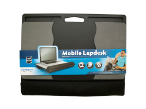 Mobile Notebook Lapdesk with Dual Bolster Lap Pads