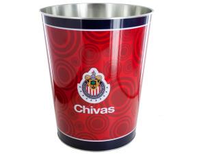 Chivas Banded Metal Wastebasket