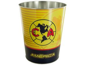 Club America Metal Wastebasket