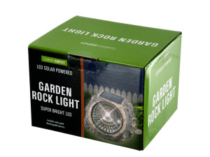 Solar Powered LED Garden Rock Light