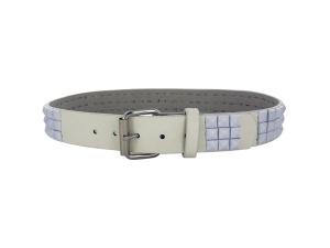Large White Pyramid Studded Belt