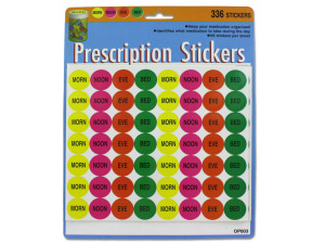 336 Pack prescription stickers