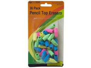 Pencil top erasers