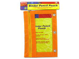 Binder pencil pouch