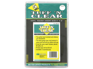 "Tuff 'n' Clear 5 x 8"" vinyl pocket"