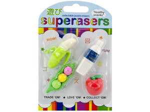 healthy snacks erasers