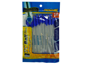 10 pack stick pens blue ink