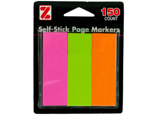 150 pc self stick page markers (3 pads 50 sheets each)