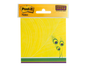 Peacock Feathers Post-it Super Sticky Notes