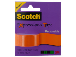 Scotch Expressions Removable Tape - Orange