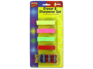 Eraser and sharpener set