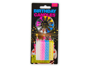 Birthday candles with holders
