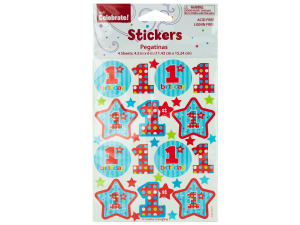 4 sheet 1st birthday stickers 4.5 inch x 6 inch