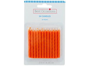 24 pack 2.35 inch orange candles