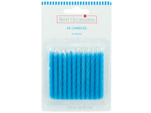24 pack 2.35 inch powder blue candles
