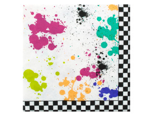 18 pack 80s theme beverage napkins 9.875 x 9.875 inch