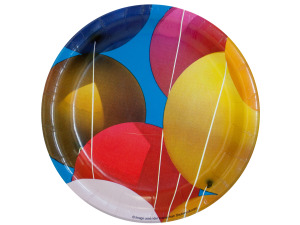 8 pack ballons 7 inch round plates
