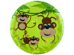 10 pack 6 7/8 in. monkeys paper plates