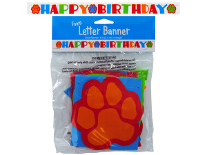 Foam puppy birthday banner
