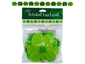 shamrocks jointed felt garland