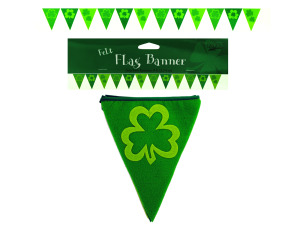shamrocks felt flag banner