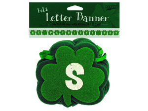 st patricks day felt letter banner