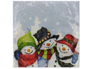 16 count snow pals lunch napkins