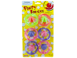 6 pack disc spinning tops party favors