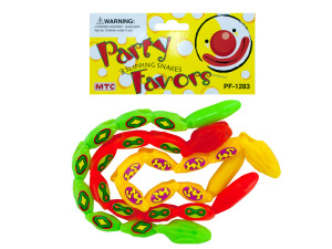 3 pack slipping snakes party favors