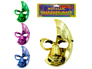metallic half face mask party favor