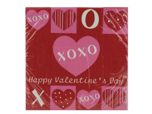 18 pack 12.875 x 12.75 inch crafty hearts lunch napkins