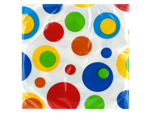 20 pk 9 7/8 x 9 7/8 in. celebration bubbles beverage napkins