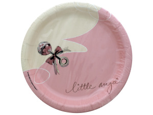 8 pk 6 3/4 in little angel plates
