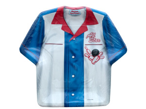 8pk all star bowling shirt shaped plates