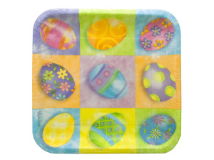8 pk 9 1/4 in springtime eggs plates