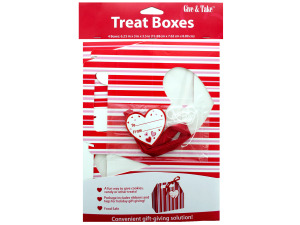 4 pk 6.25 x 3 x 3.5 in. valentine treat boxes