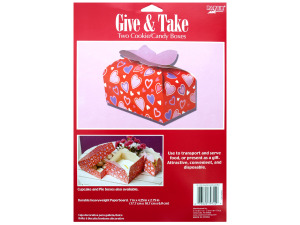 2 pack 7 x 4.25 x 2.75 in. valentine cookie/candy boxes