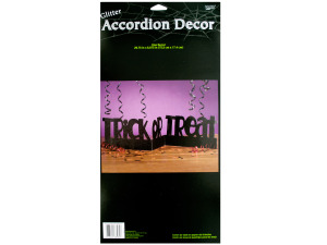 29.75 x 6.875 in. glitter trick or treat accordian decor