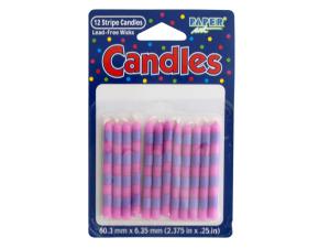 Stripe Candles Set
