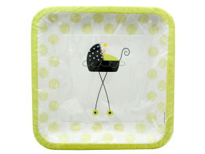 Stroller Fun Square Dinner Plates Set