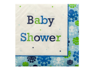 Ocean Preppy Boy Baby Shower Napkins Set