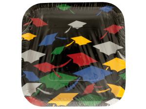 Colors of Graduation Square Plates Set