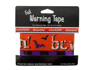 Foil Halloween Warning Tape
