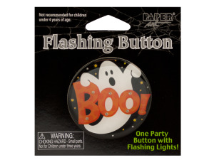 Halloween Flashing Boo Party Button