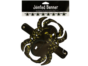 Halloween Honeycomb Spiders Jointed Banner