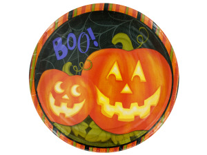 Jolly Jack-o-Lanterns Round Dinner Plates Set
