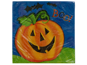 Pumpkin Smile Dinner Napkins Set